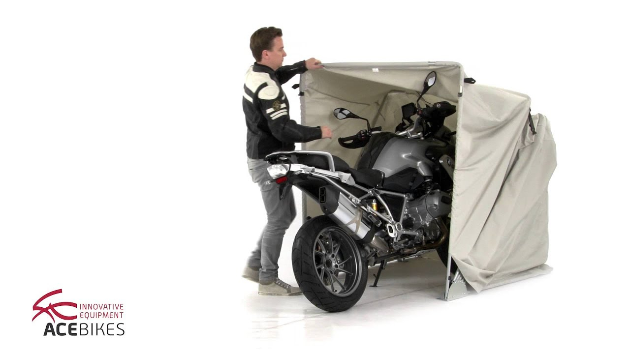 Acebikes Motor Shelter Size M Faltgarage, Folding Garage, L'abri Moto pour Abri Moto