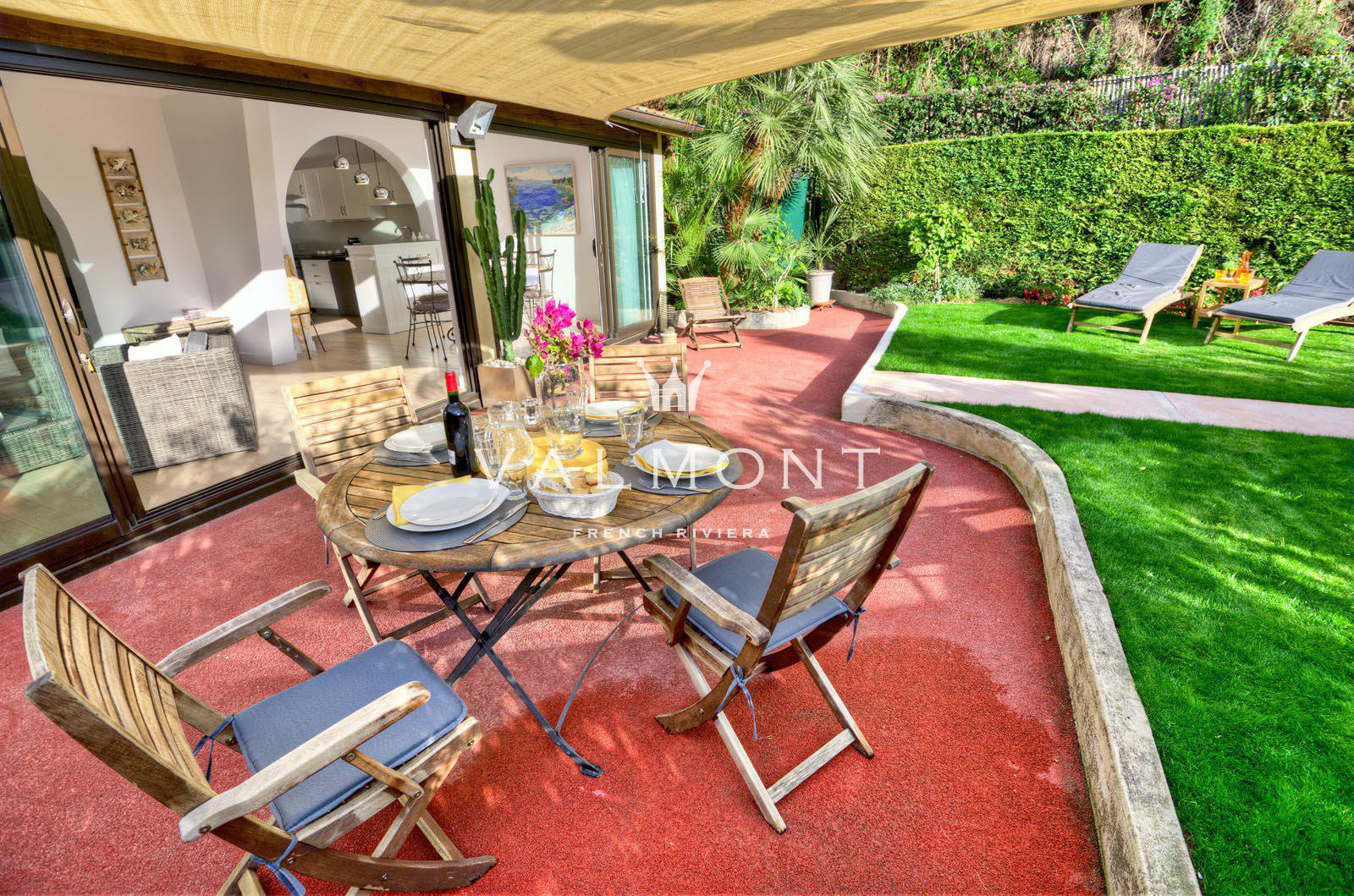 Agence Immobilière Côte D'azur | Villa And Appartements ... dedans Location Rez De Jardin Antibes
