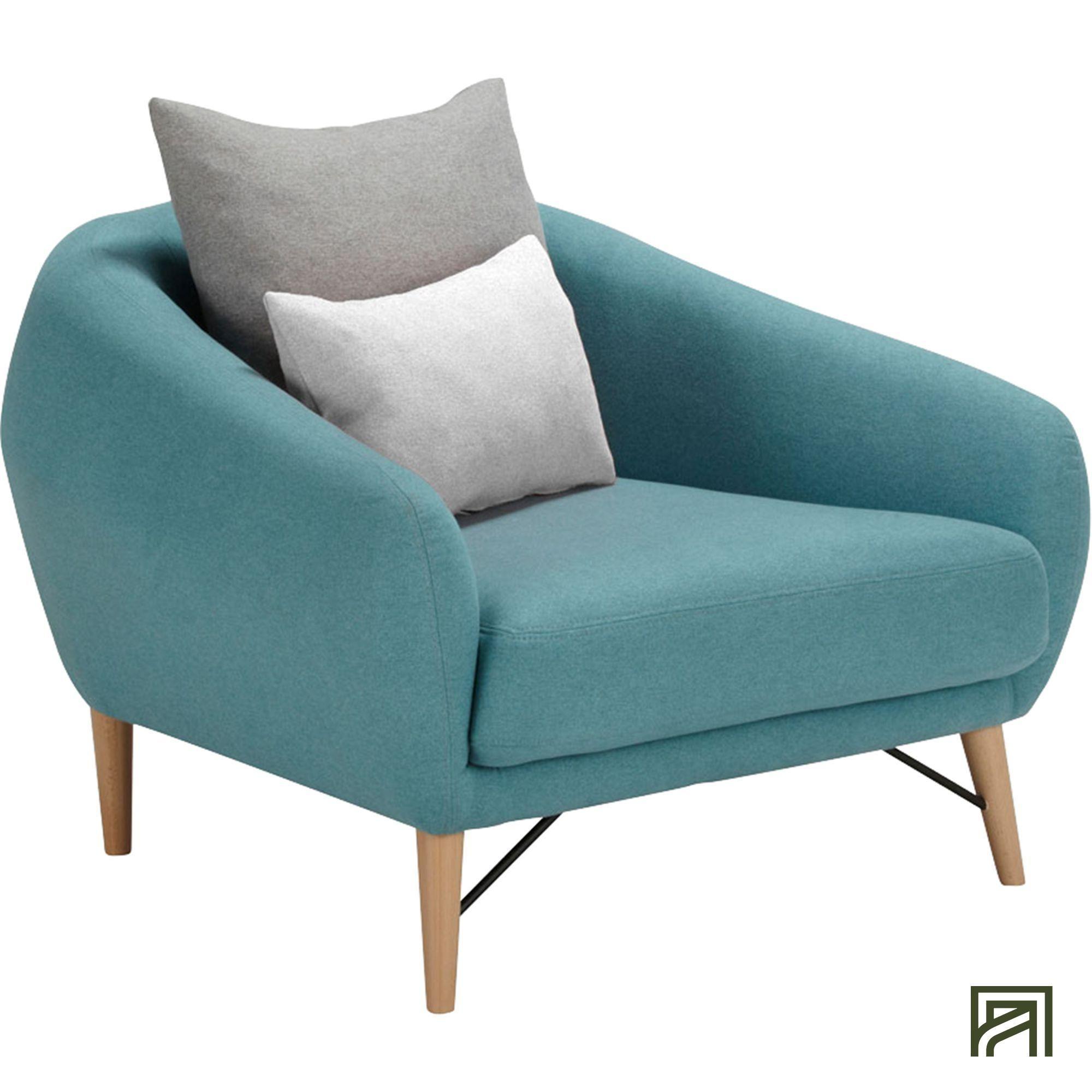 Alinea : Cooper Fauteuil En Tissu Bleu - #alinea #décoration ... encequiconcerne Fauteuil Alinea