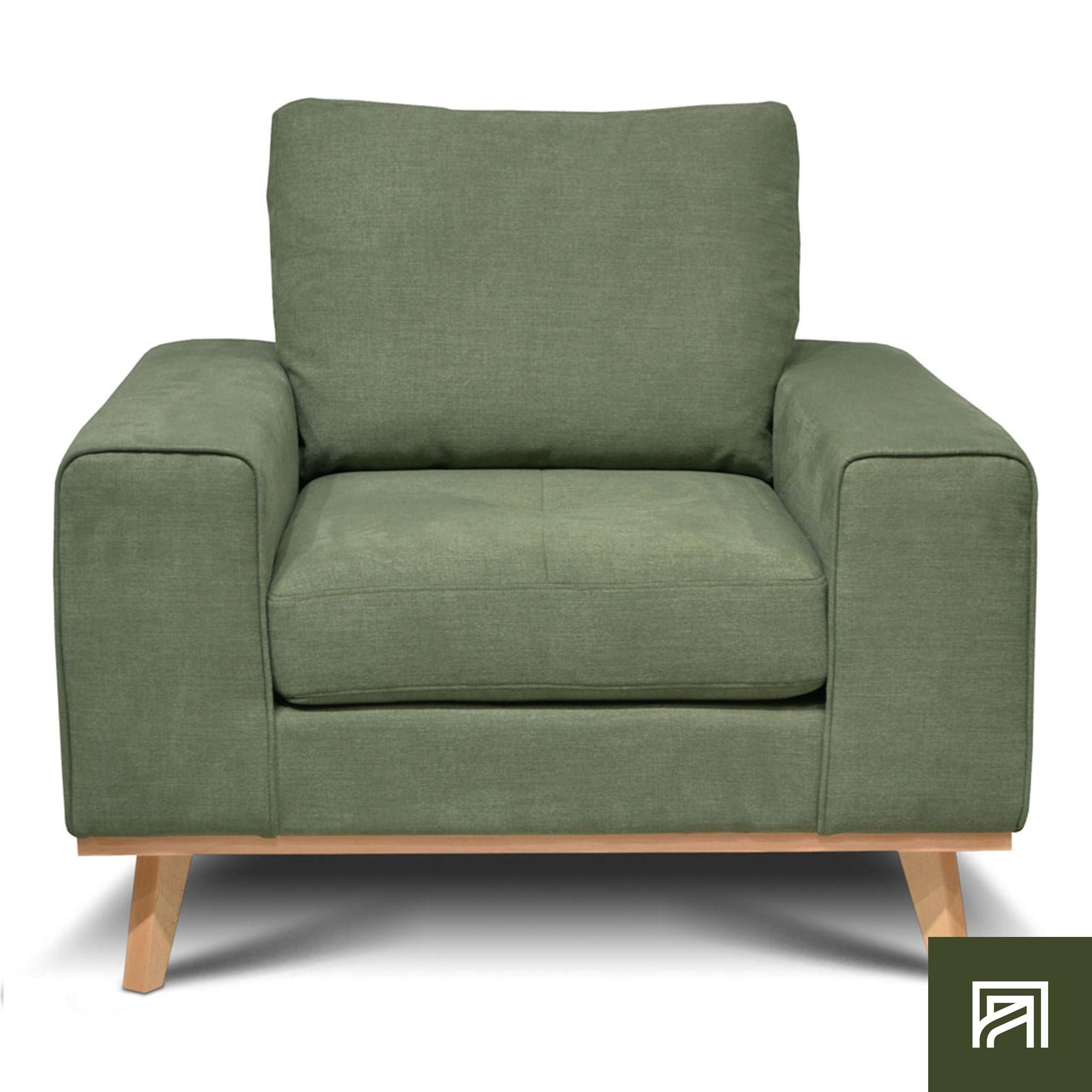 Alinea : Picabia Fauteuil En Tissu Vert Kaki - #alinea ... à Alinea Fauteuil