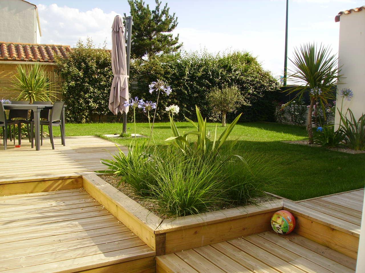 Amenagement De Jardin - Olonne Sur Mer - Ecce Terra ... à Aménagement Du Jardin Photo