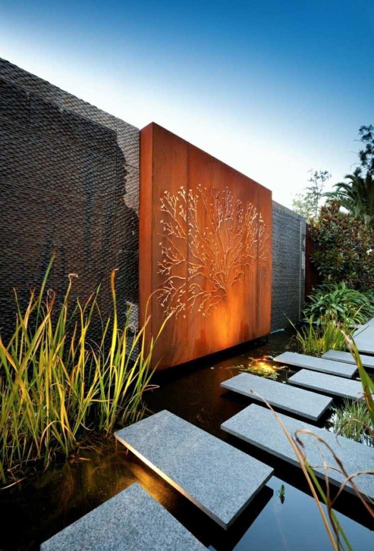 Aménagement Jardin Moderne – 55 Designs Ultra Inspirants ... serapportantà Bassin De Jardin Moderne