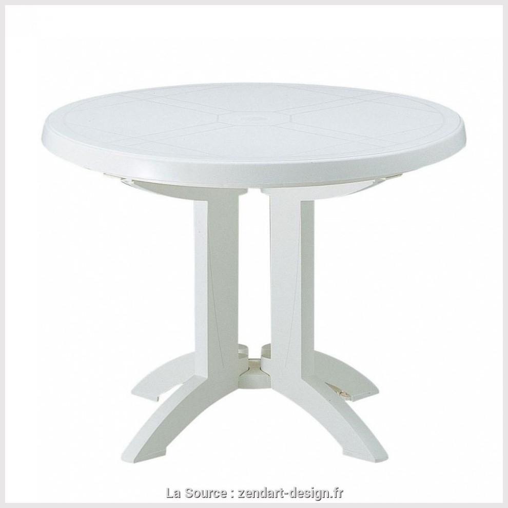 Ameublement Et Décoration Oviala Table De Jardin Ronde En ... intérieur Table De Jardin Plastique