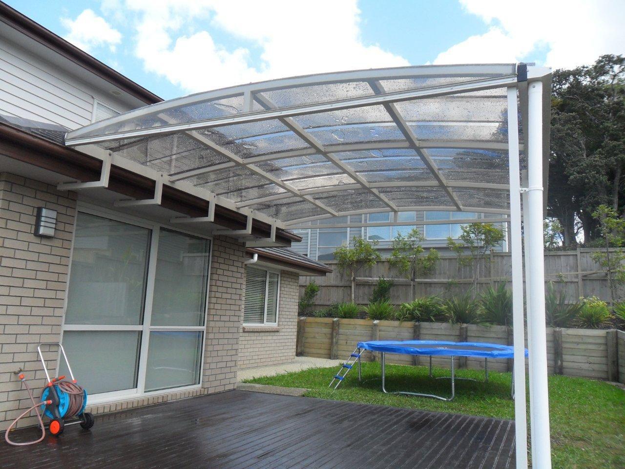 Auvent Pour Terrasse / En Polycarbonate / En Méthacrylate ... concernant Auvent Polycarbonate