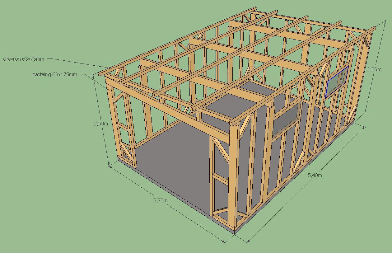 Avis Sur Plan Ossature Abris De Jardin 20M² (20 Messages ... pour Fabriquer Abris De Jardin