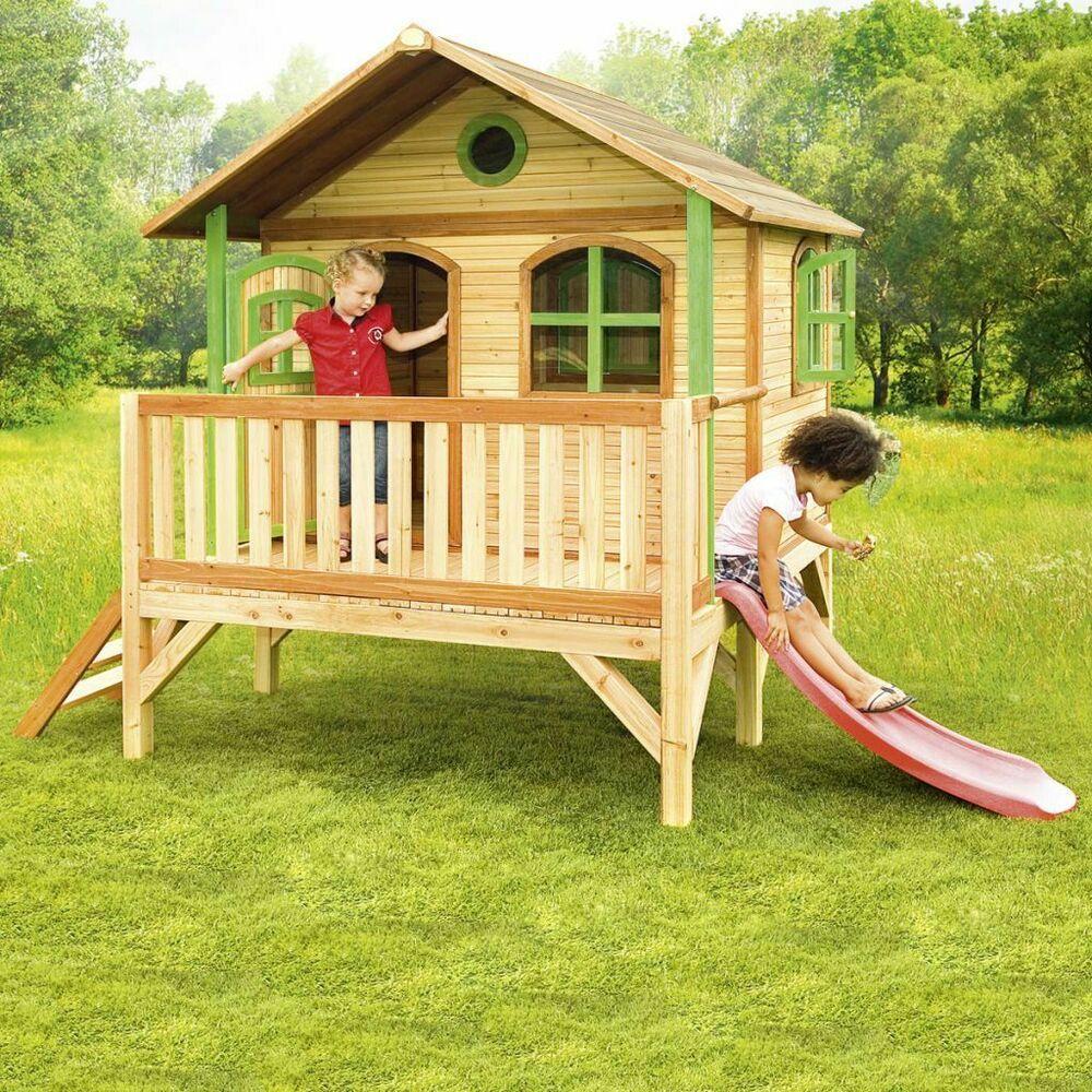 Axi Maisonnette Pour Enfants Avec Echelle Et Toboggan Stef ... concernant Cabane Toboggan Pas Cher
