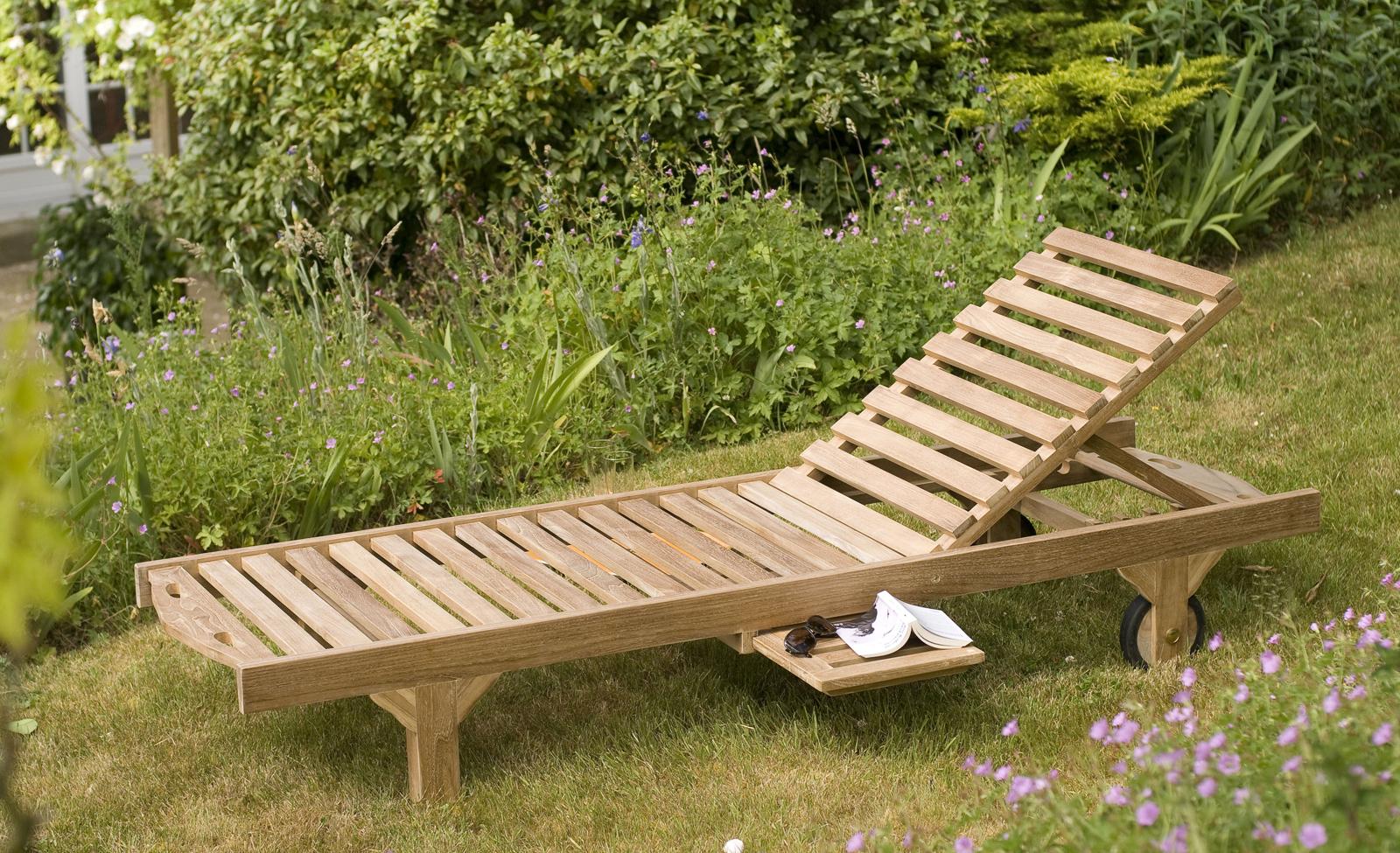 Bain De Soleil Transat Jardin En Teck Massif 205Cm Summer concernant Transat Jardin
