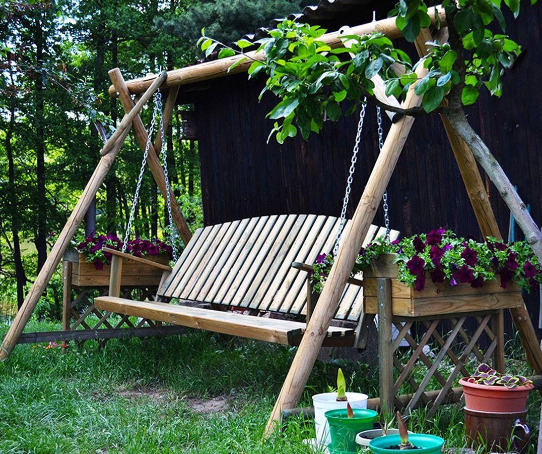 Balancelle De Jardin Irazu | Balancelle De Jardin ... intérieur Balancelle Bois Jardin