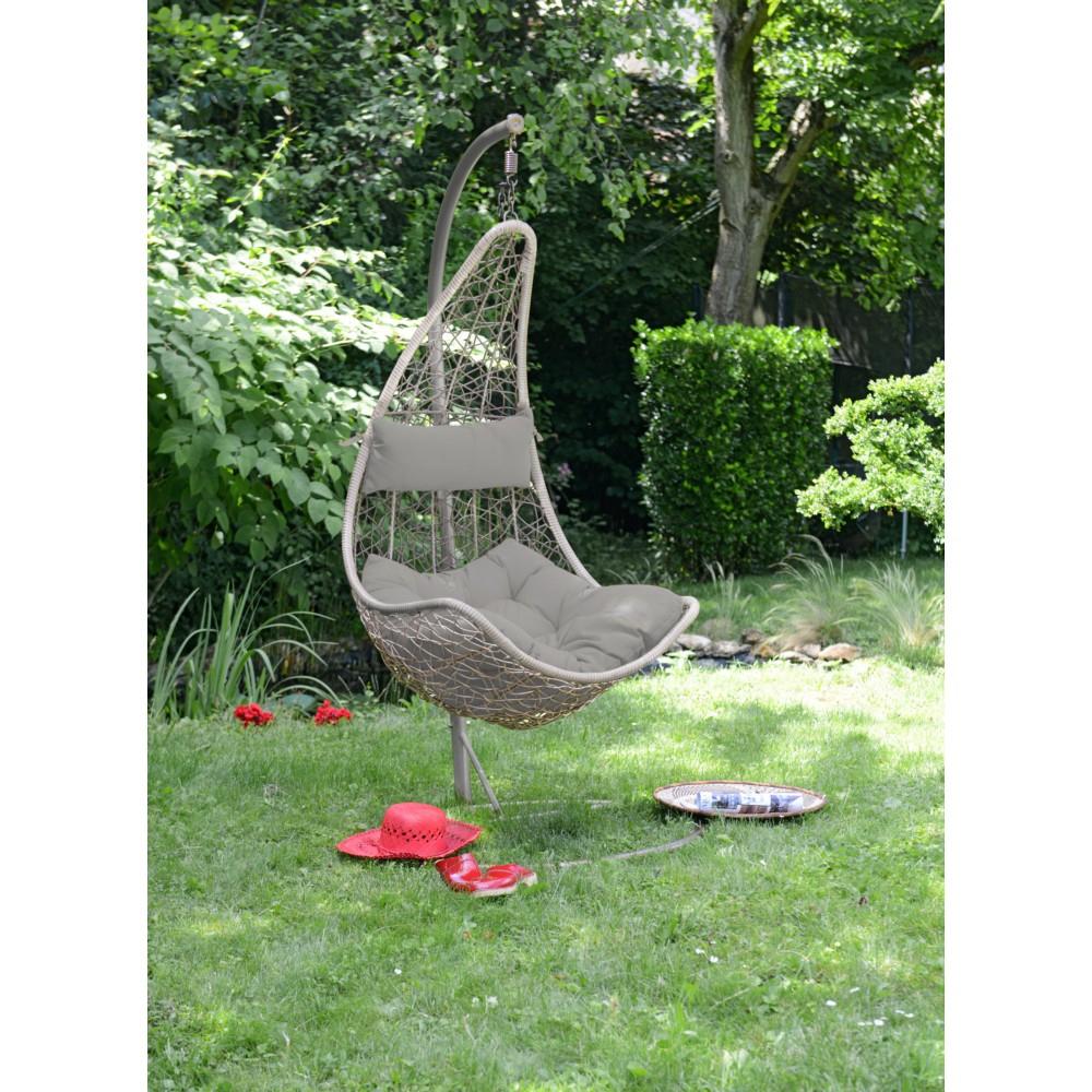 Balancelle De Jardin Sur Pied Oceane 90X70X130Cm destiné Balancelle De Jardin