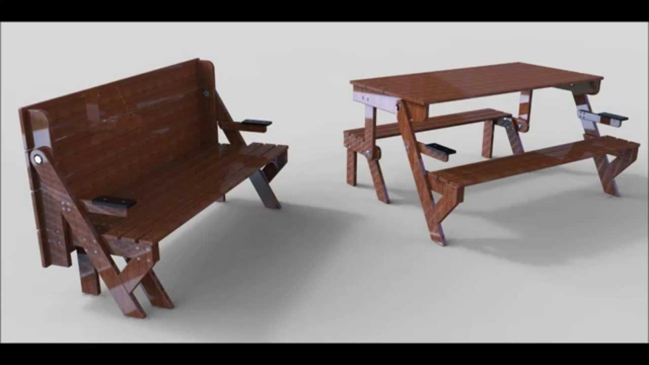 Banc Et Table - tout Table De Jardin En Bois Pliante