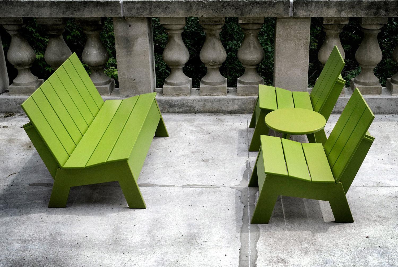 Banc Public / De Jardin / Contemporain / En Plastique Recyclé dedans Banc Plastique Jardin