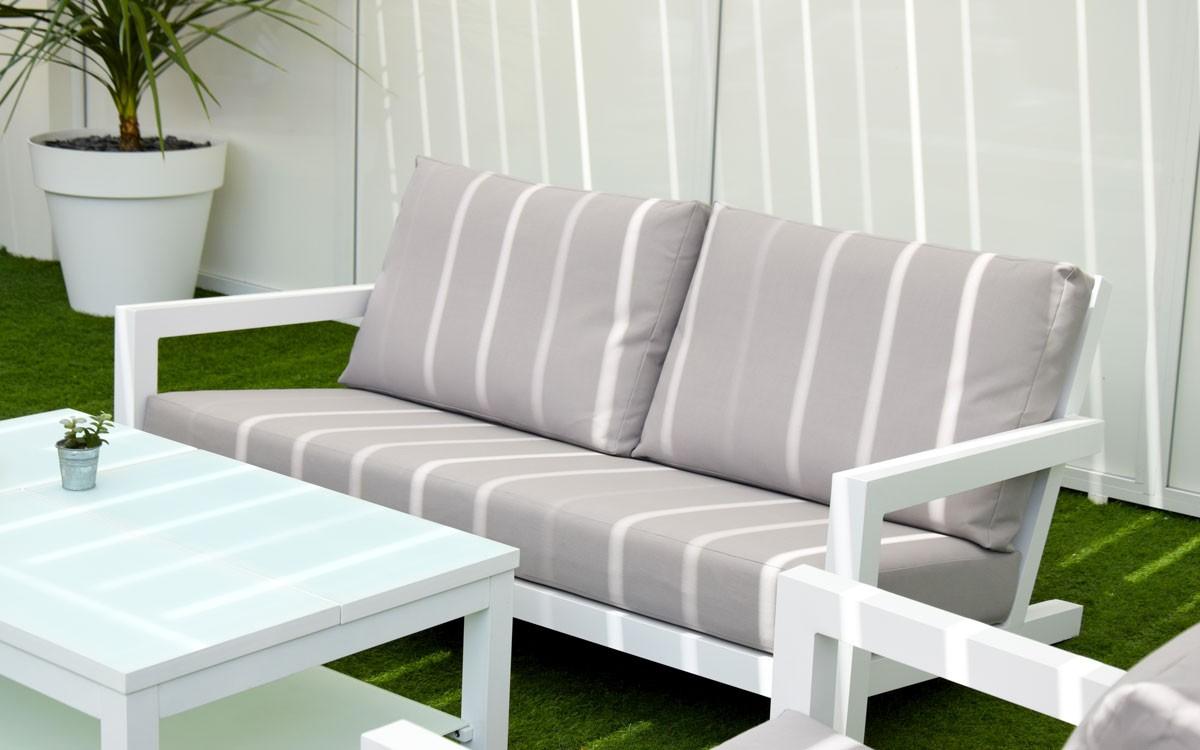 Banquette Salon Epsilon Tissu Twitchell pour Tissu Pour Salon De Jardin