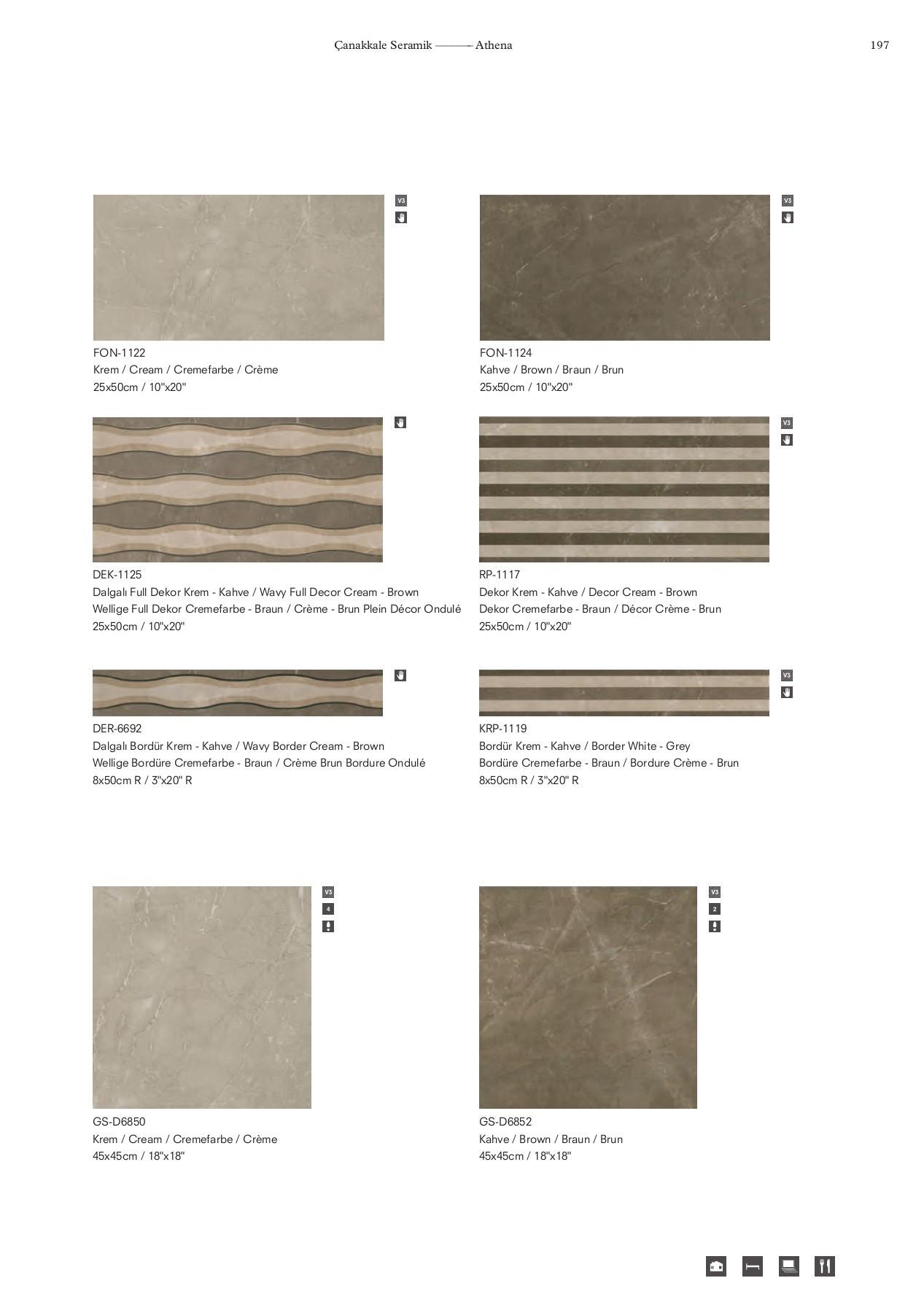 Baş Yapı 2017 Çanakkale Seramik Genel Kataloğu Pages 201 ... intérieur Salon De Jardin Blanc Design
