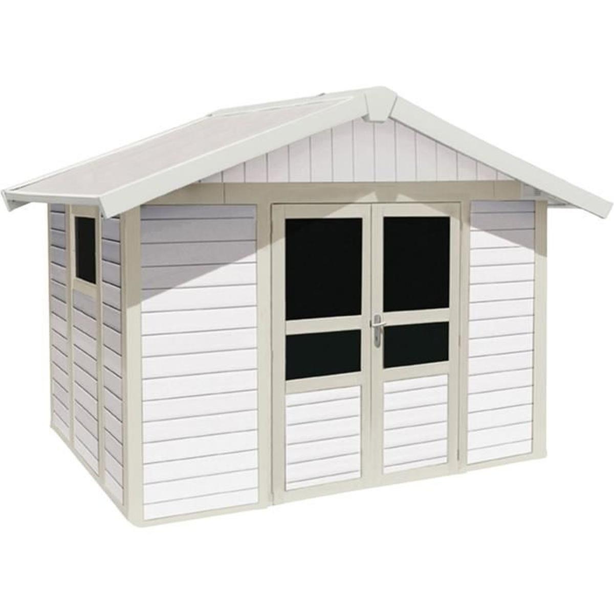 Basic Home Abri De Jardin Grosfillex Blanc En Pvc 11M² ... intérieur Grosfillex Abri De Jardin Pvc
