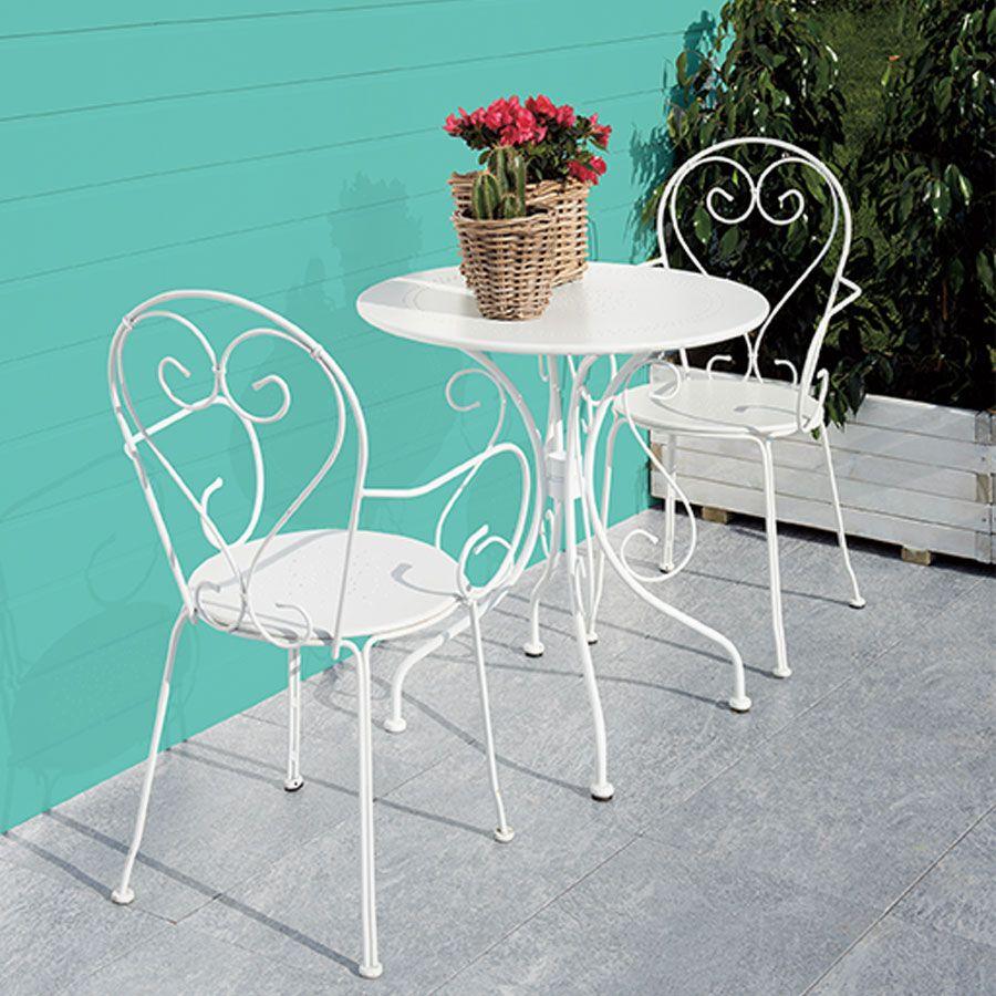 Blooma Flores Ferforje Sandalye Beyaz - Koçtaş   Tasarım ... concernant Blooma Jardin