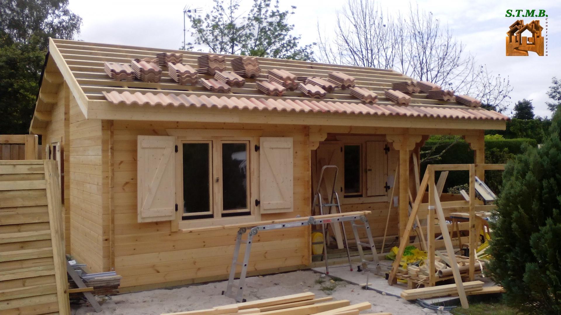 Bordeaux 42 intérieur Chalet Bois Habitable