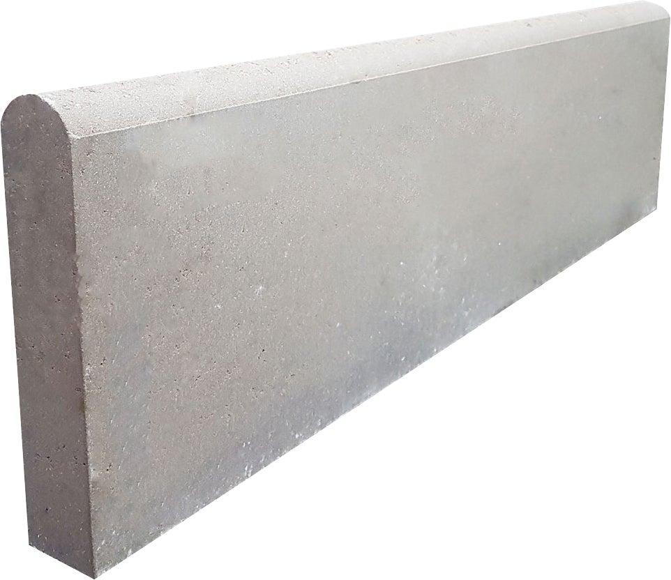 Bordure 6X28X100 P2 Grise | Bricoman concernant Bordure Beton 1M
