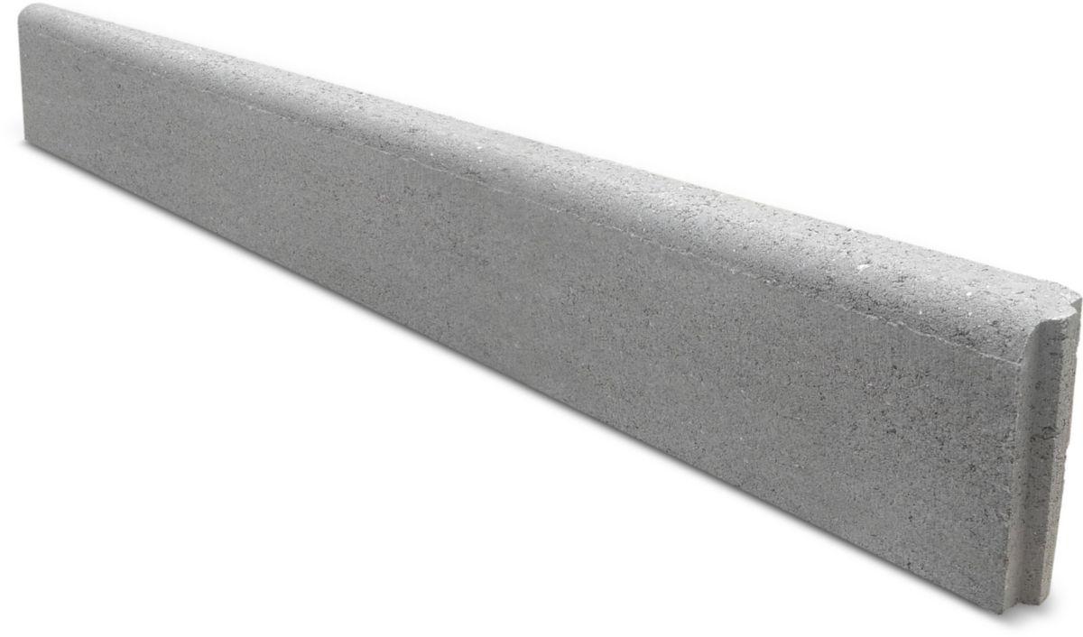 Bordure Béton Gris Naturel Classe U+D 30X20Cm Longueur 1M pour Bordure Beton 1M