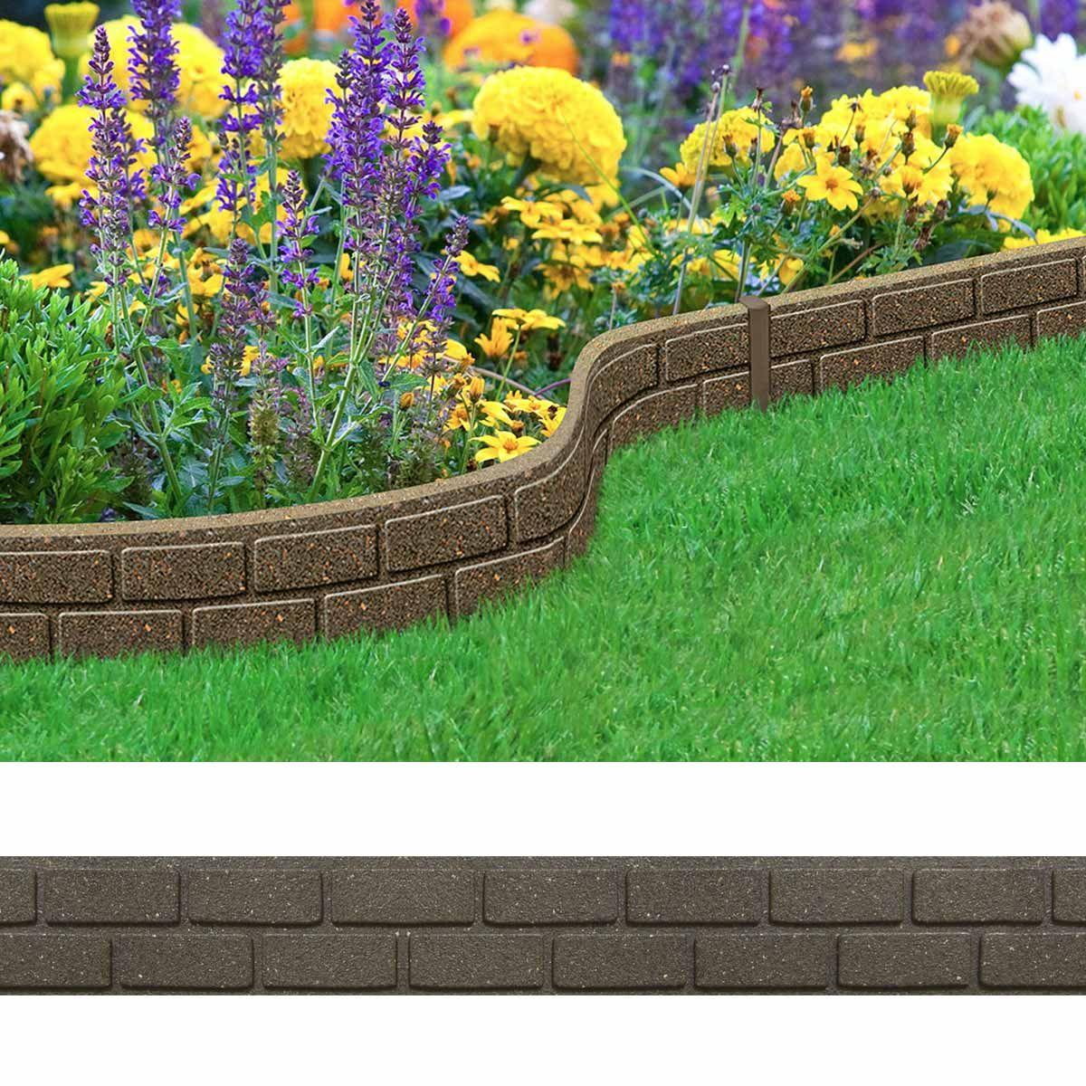 Bordure De Jardin Effet Briques 120Cm - Caoutchouc Recyclã ... tout Bordure De Jardin