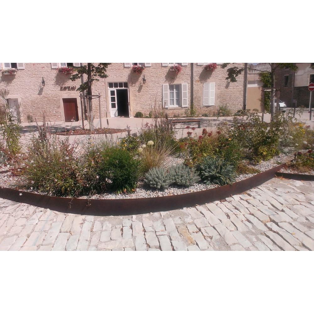 Bordure De Jardin / Volige En Acier Corten Pas Cher encequiconcerne Bordure Acier Corten