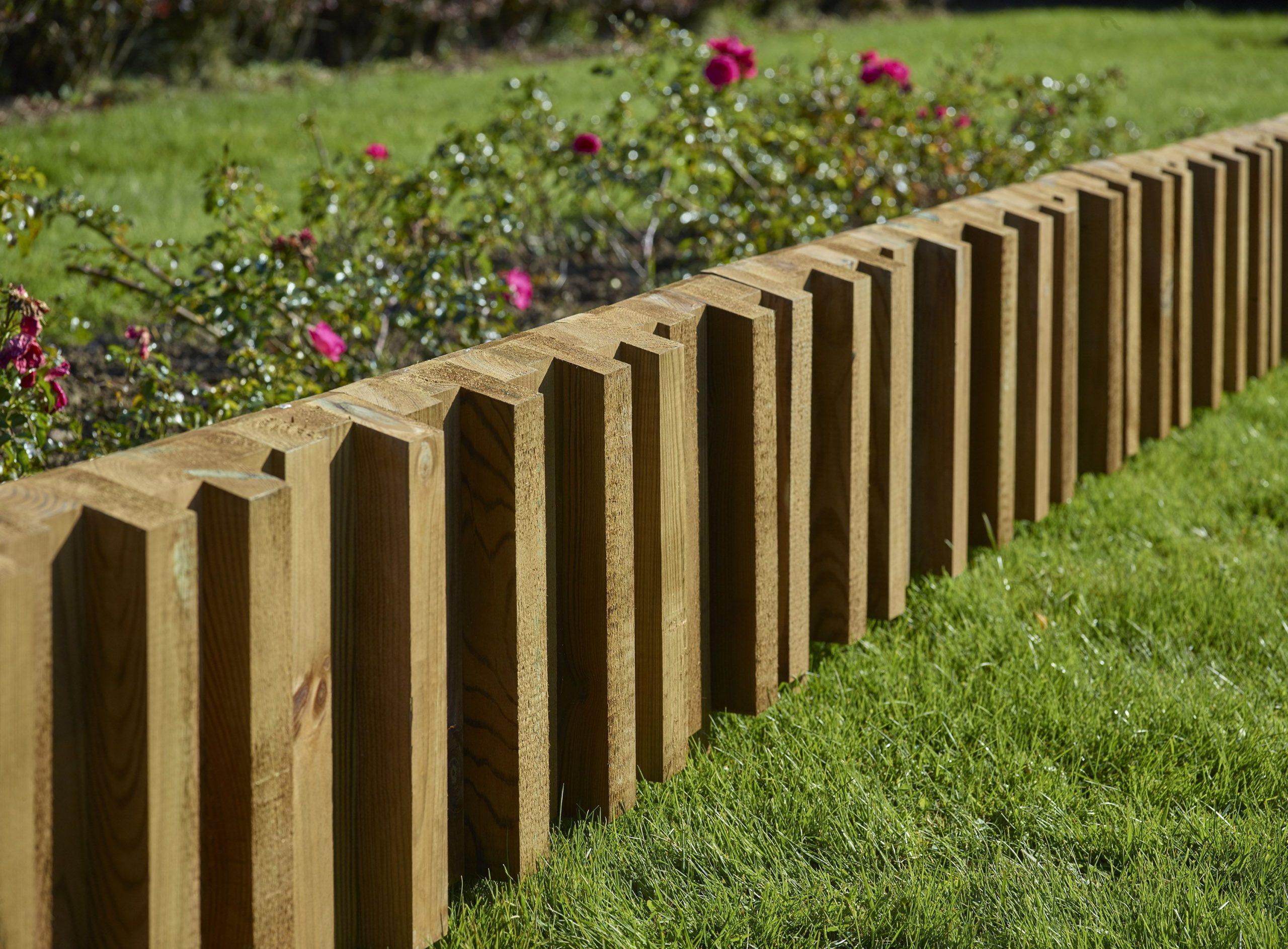 Bordure En Bois Design Et Tendance Pour Votre Jardin ... intérieur Bordure Jardin Bois