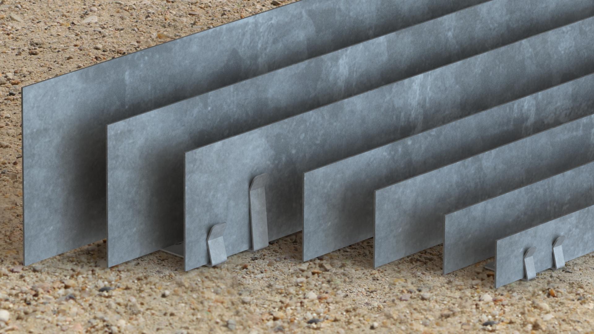 Bordure Volige Galvanisé Séparation Délimitation Massif destiné Bordure Metal