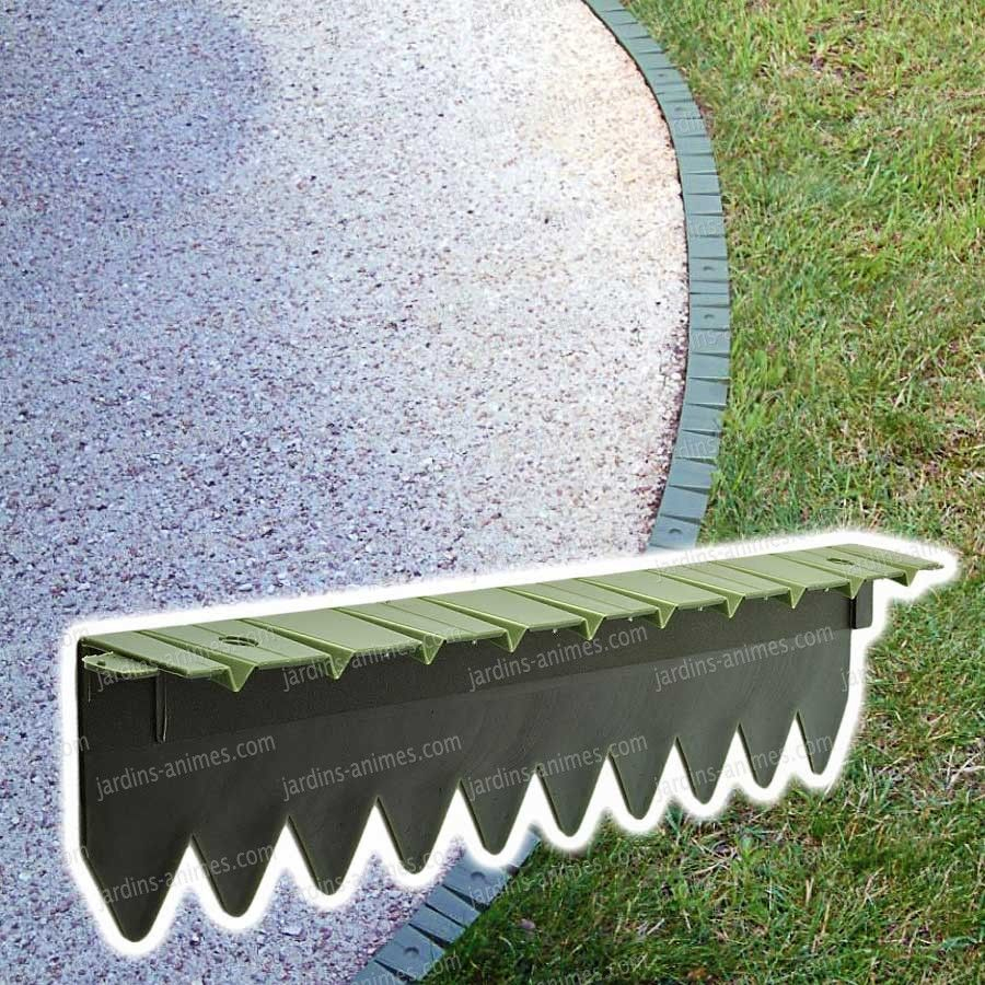 Bordurette Pelouse Flexible En Plastique 6X50Cm | Bordure ... destiné Bordure Jardin Plastique