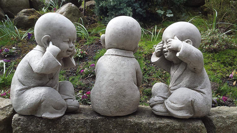 Bouddha Dire, Voir, Entendre-Décoration Asiatique-Lot De 3 ... à Bouddha Deco Jardin