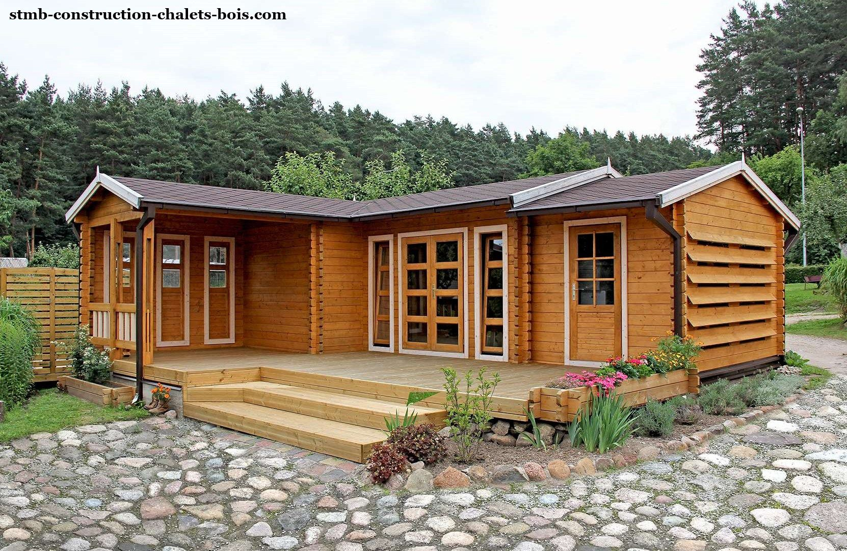 Boutique Chalets Habitables Kit Chalet Habitable Chataignier ... avec Chalet En Bois 20M2