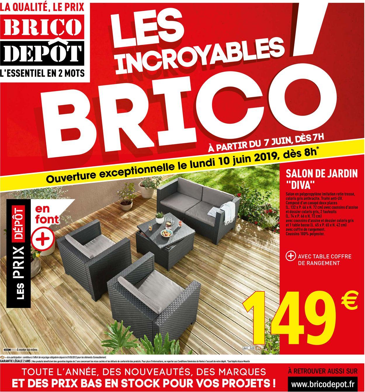 Brico Dépôt Catalogue Actuel 07.06 - 30.06.2019 - Catalogue ... tout Salon De Jardin Brico Dépôt
