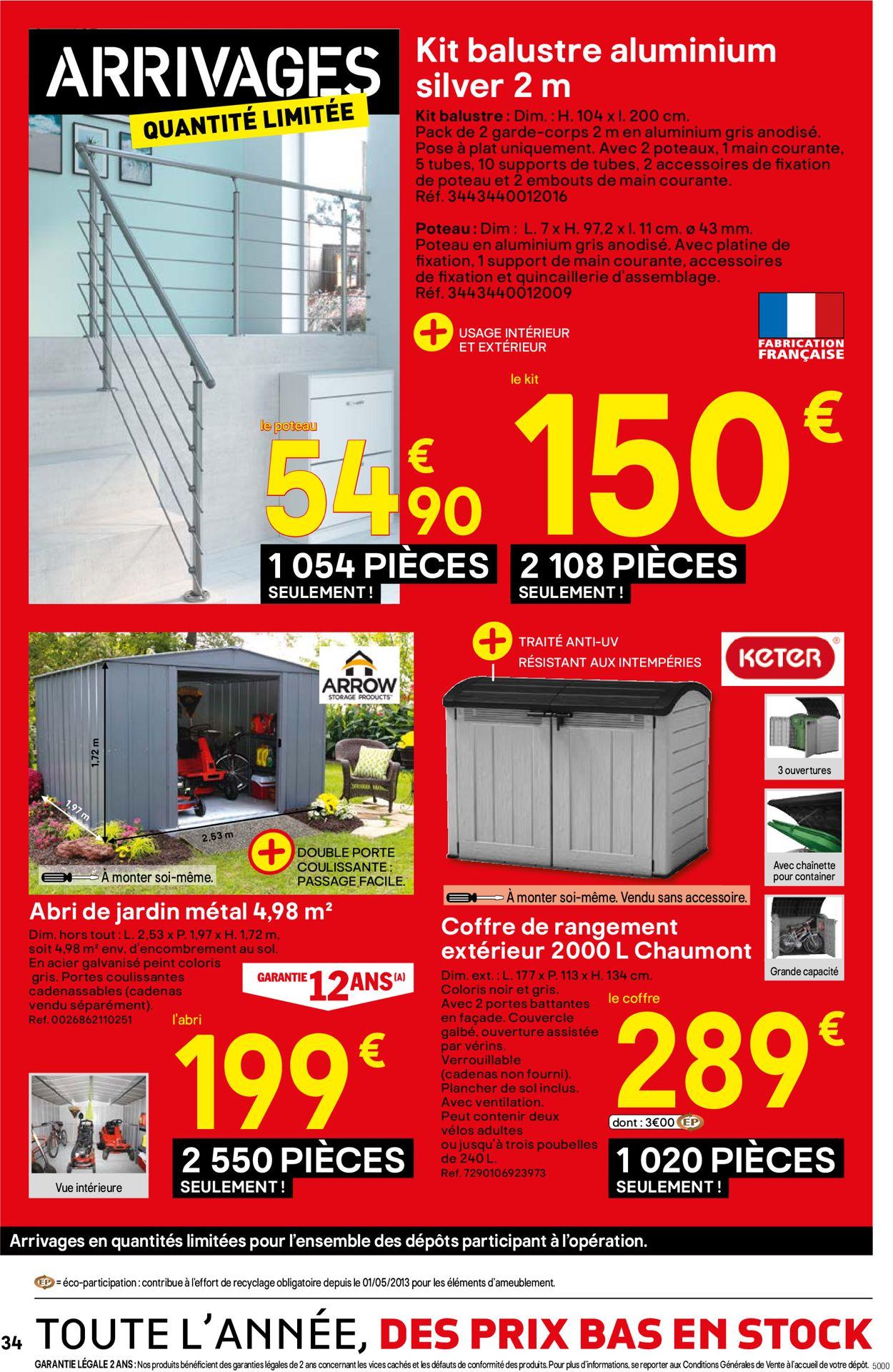 Brico Dépôt Catalogue Actuel 18.10 - 07.11.2019 [34 ... tout Coffre De Rangement Exterieur Brico Depot