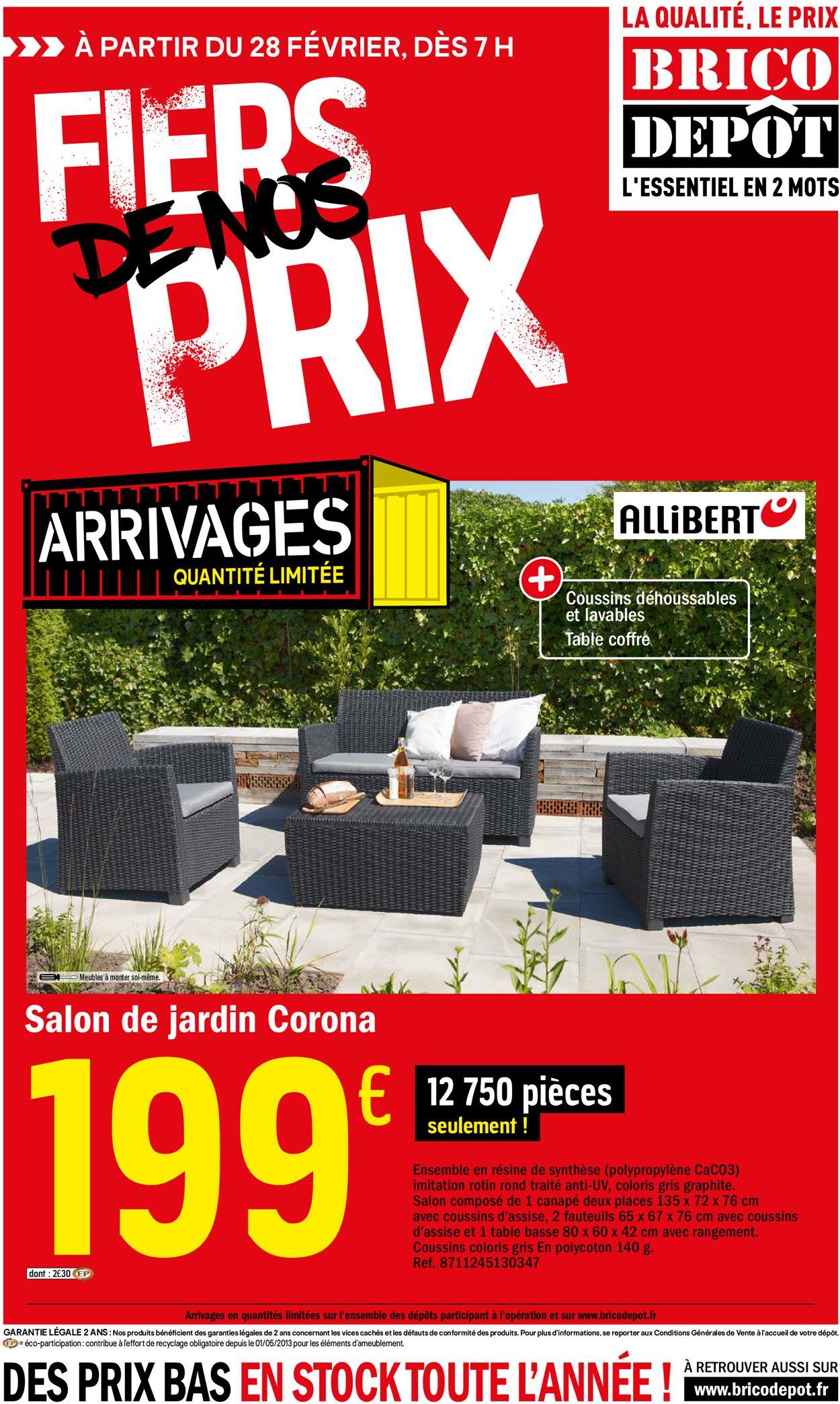 Brico Dépôt Catalogue Actuel 28.02 - 18.03.2020 - Catalogue ... serapportantà Salon De Jardin Brico