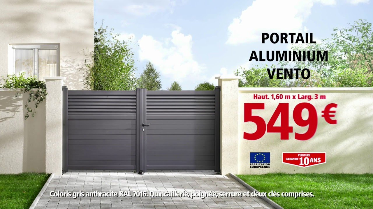 Brico Dépôt - Portail Aluminium serapportantà Brico Depot Belgique