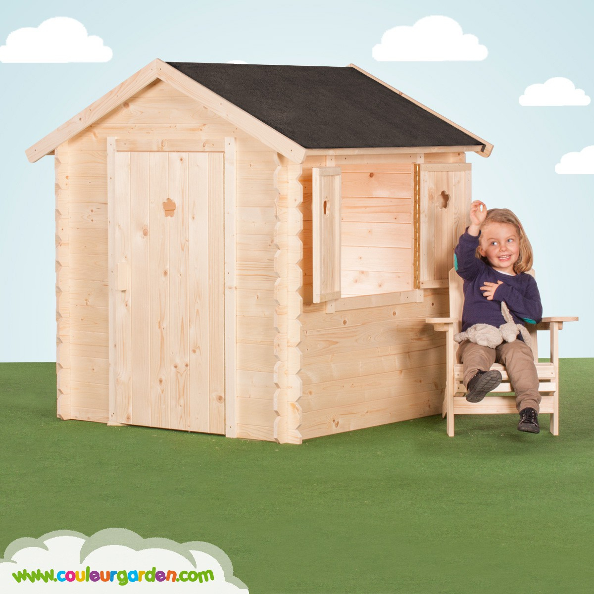 Cabane De Jardin En Bois Pas Cher Maison En Bois Pour Enfant ... encequiconcerne Cabane Jardin Enfant Pas Cher