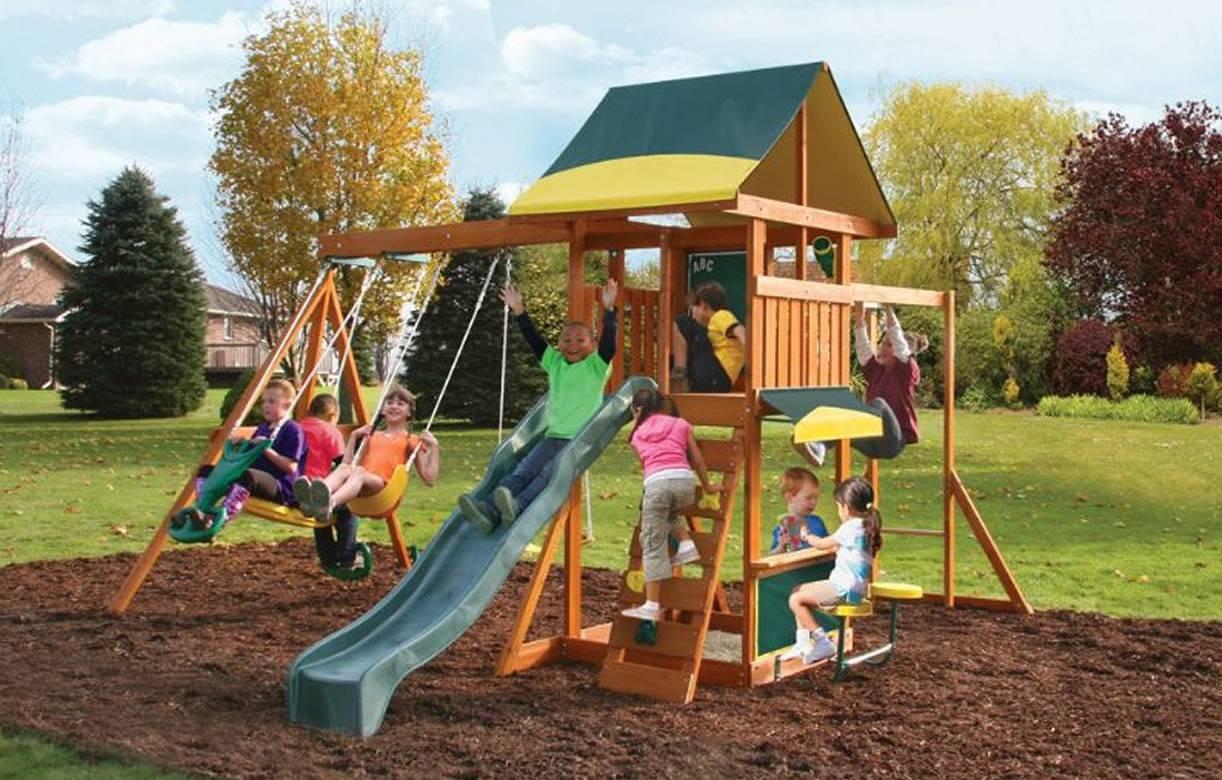 Cabane De Jardin Enfants Avec Jeux Brookridge Kidkraft 26410 serapportantà Jeux De Jardin Enfant