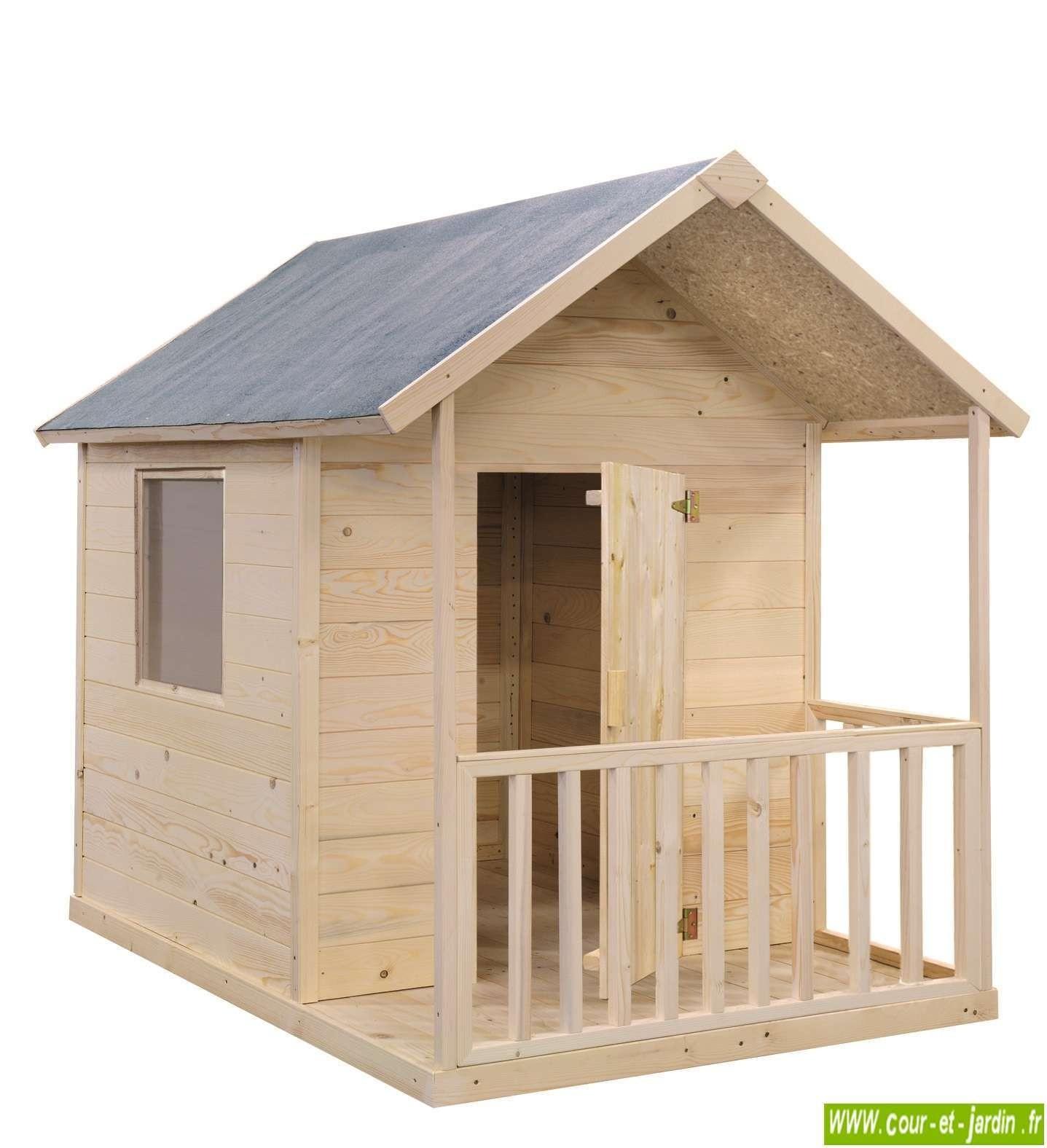 Cabane En Bois Pour Enfant, Cabane De Jardin Pour Enfants ... tout Abri Jardin Enfant