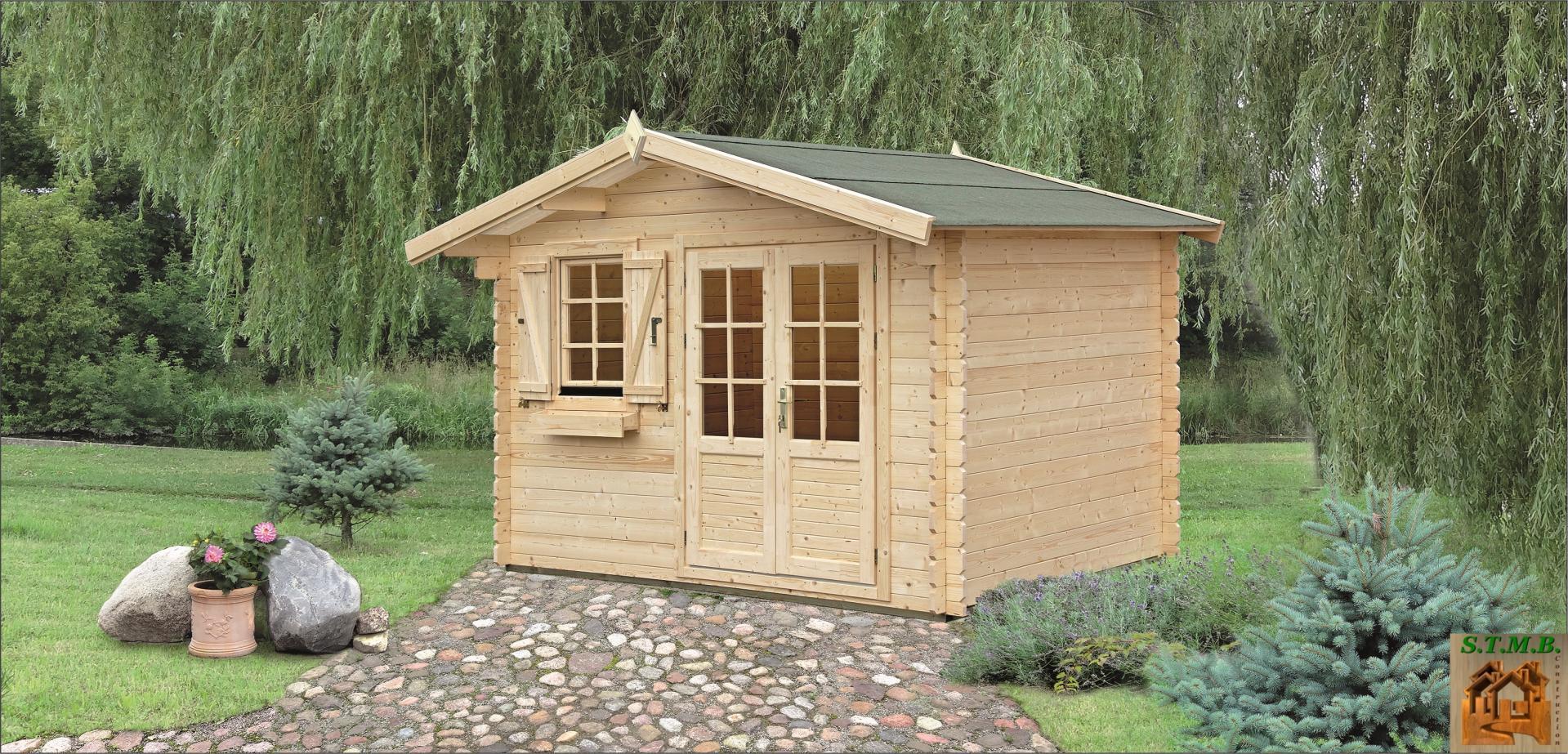 Cabane Jardin | Cabanon Bois | Stmb Constrution concernant Chalet De Jardin En Bois