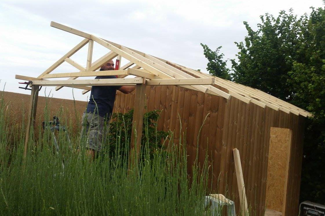 Cabanes Et Abris De Jardin | Les Services De Greenrod tout Construire Abri Bois