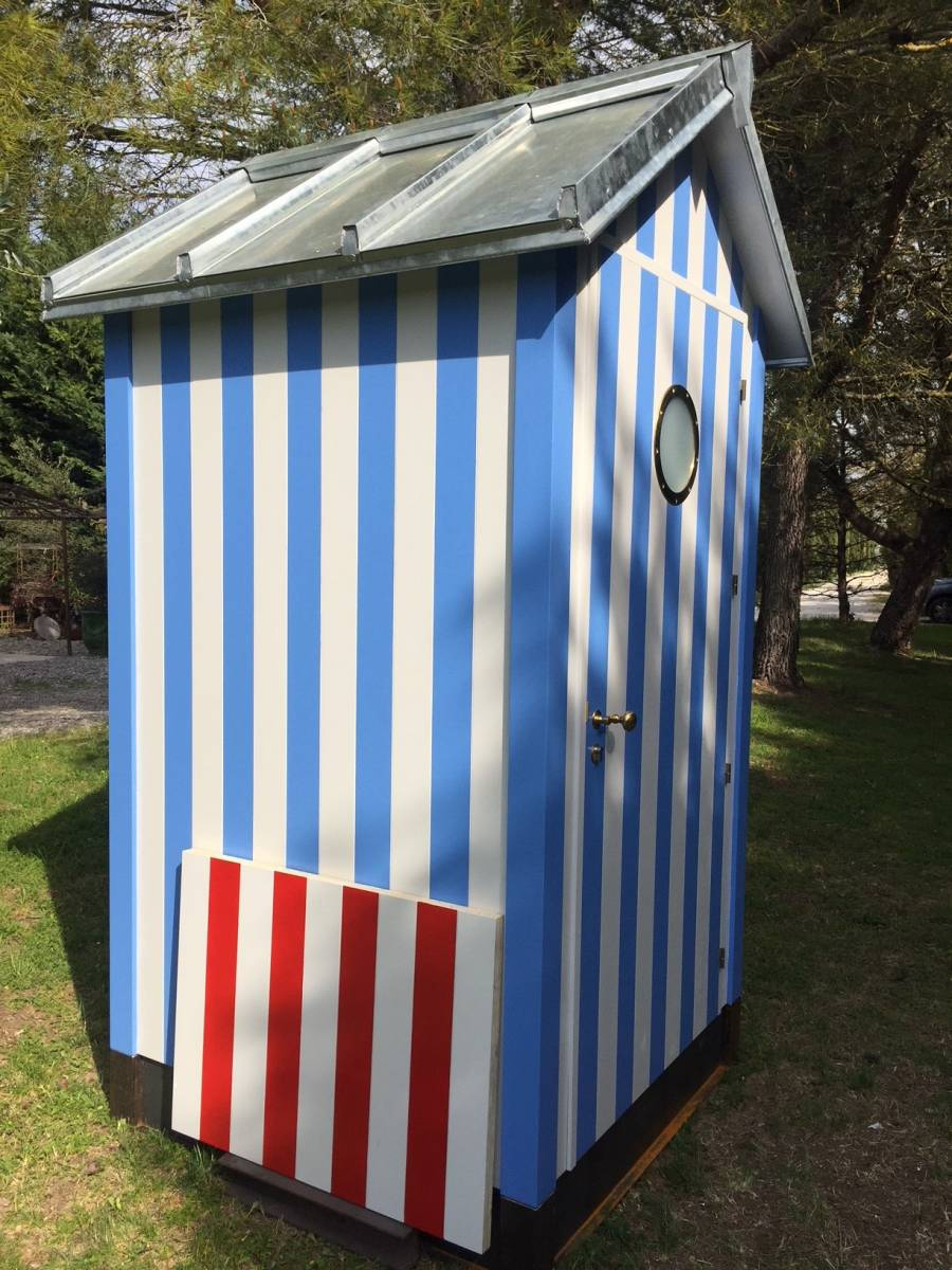 Cabine De Plage Biarritz. - Constructeur De Cabane De Jardin ... encequiconcerne Cabane De Plage Pour Jardin