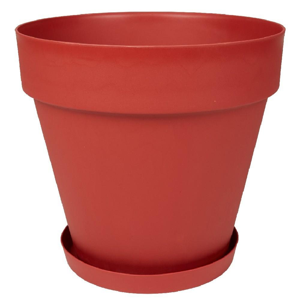 Cache Pot Rond 23 L Rouge encequiconcerne Pot Rouge Jardin