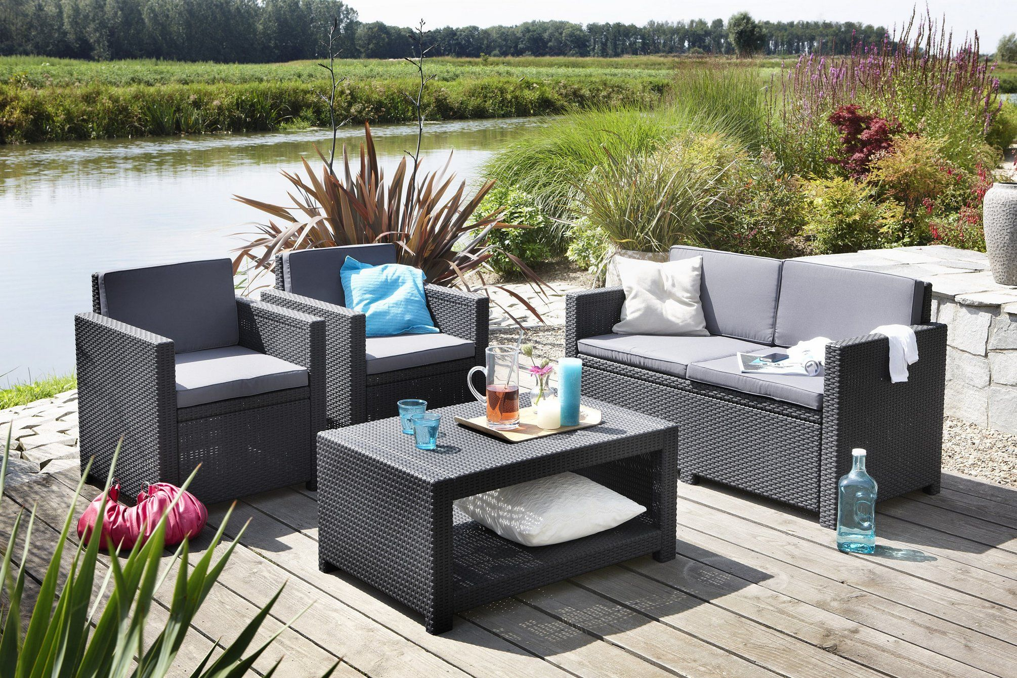 Castell Soffgrupp In 2020 | Outdoor Furniture Sets, Garden ... destiné Table De Jardin Hyper U