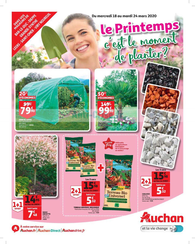Catalogue Auchan Du 18 Au 24 Mars 2020 (Nord Jardin ... serapportantà Auchan Jardin