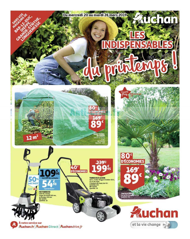 Catalogue Auchan Du 20 Au 26 Mars 2019 (Nord Jardin ... dedans Auchan Jardin