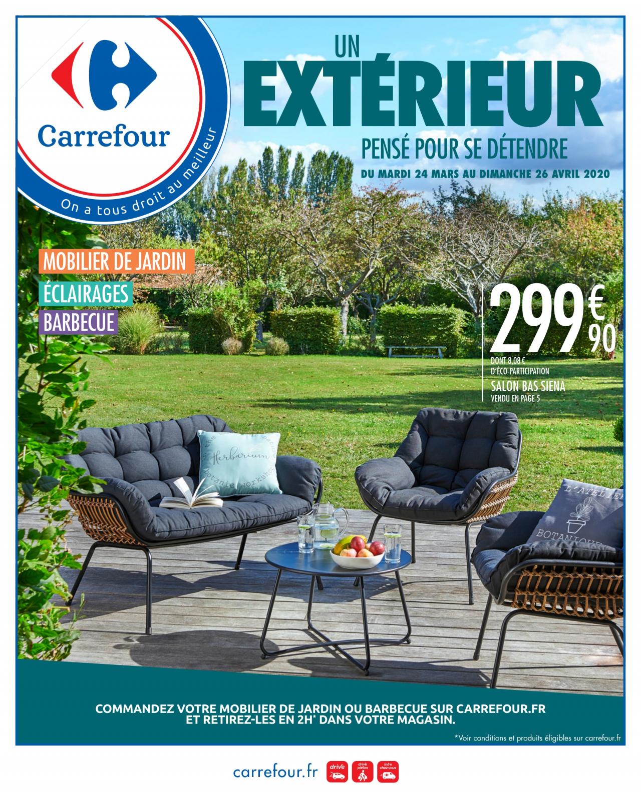 Catalogue Carrefour Hypermarché - Mobilier De Jardin Du 24 ... dedans Carrefour Salon De Jardin