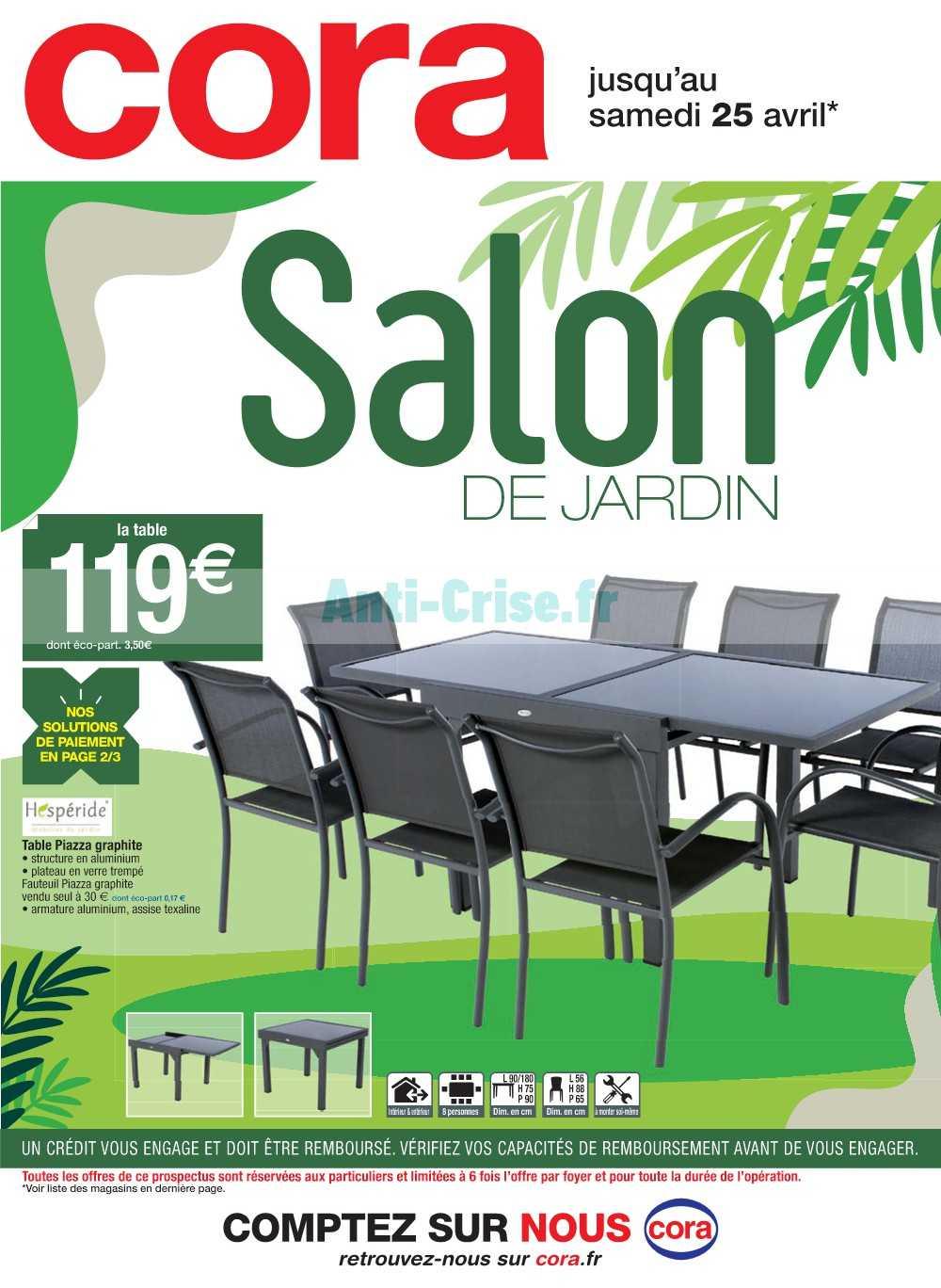 Catalogue Cora Du 07 Au 25 Avril 2020 (Salon De Jardin ... encequiconcerne Salon De Jardin Cora 2020