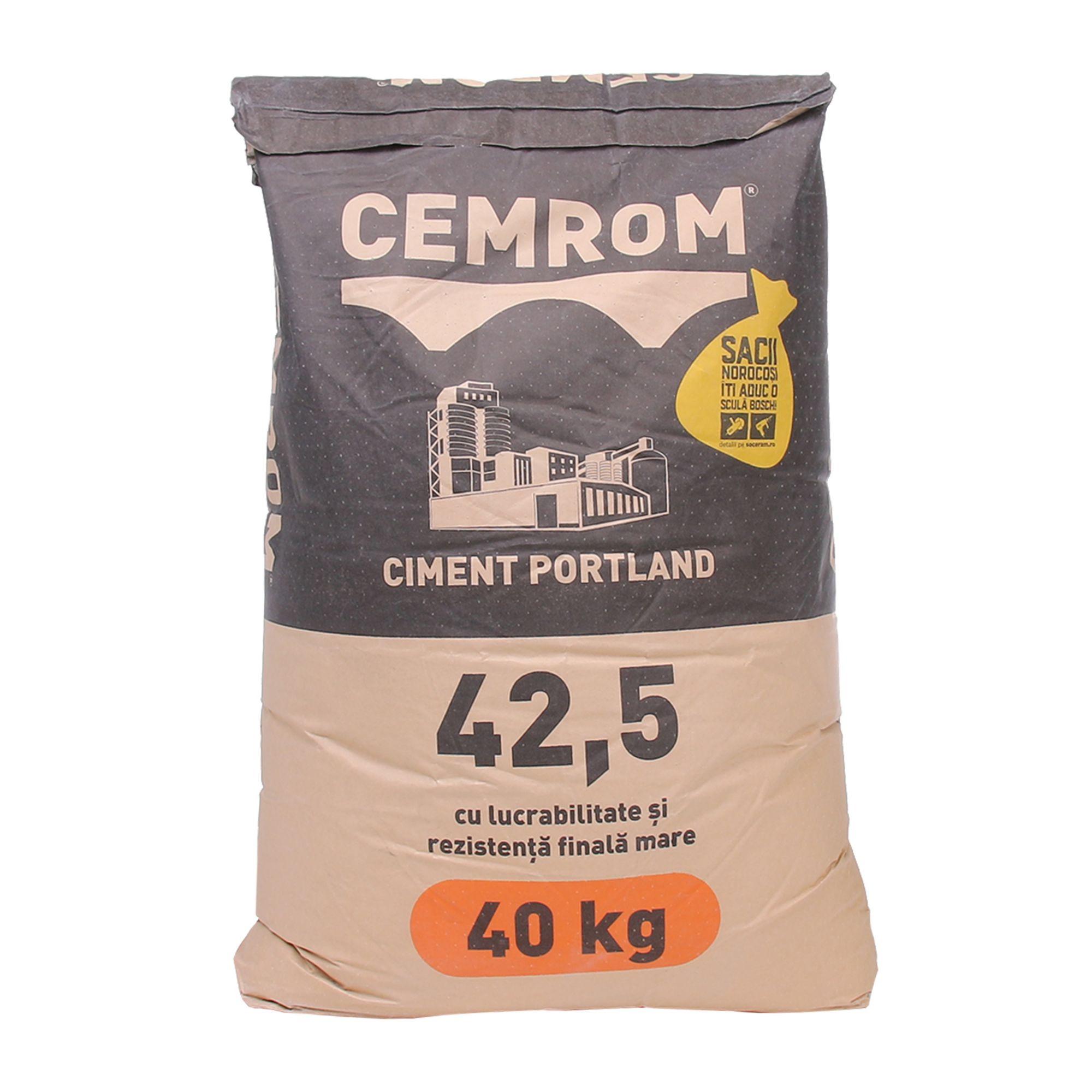 Cemrom Ciment Gri 42,5N 40 Kg pour Ciment Leroy Merlin