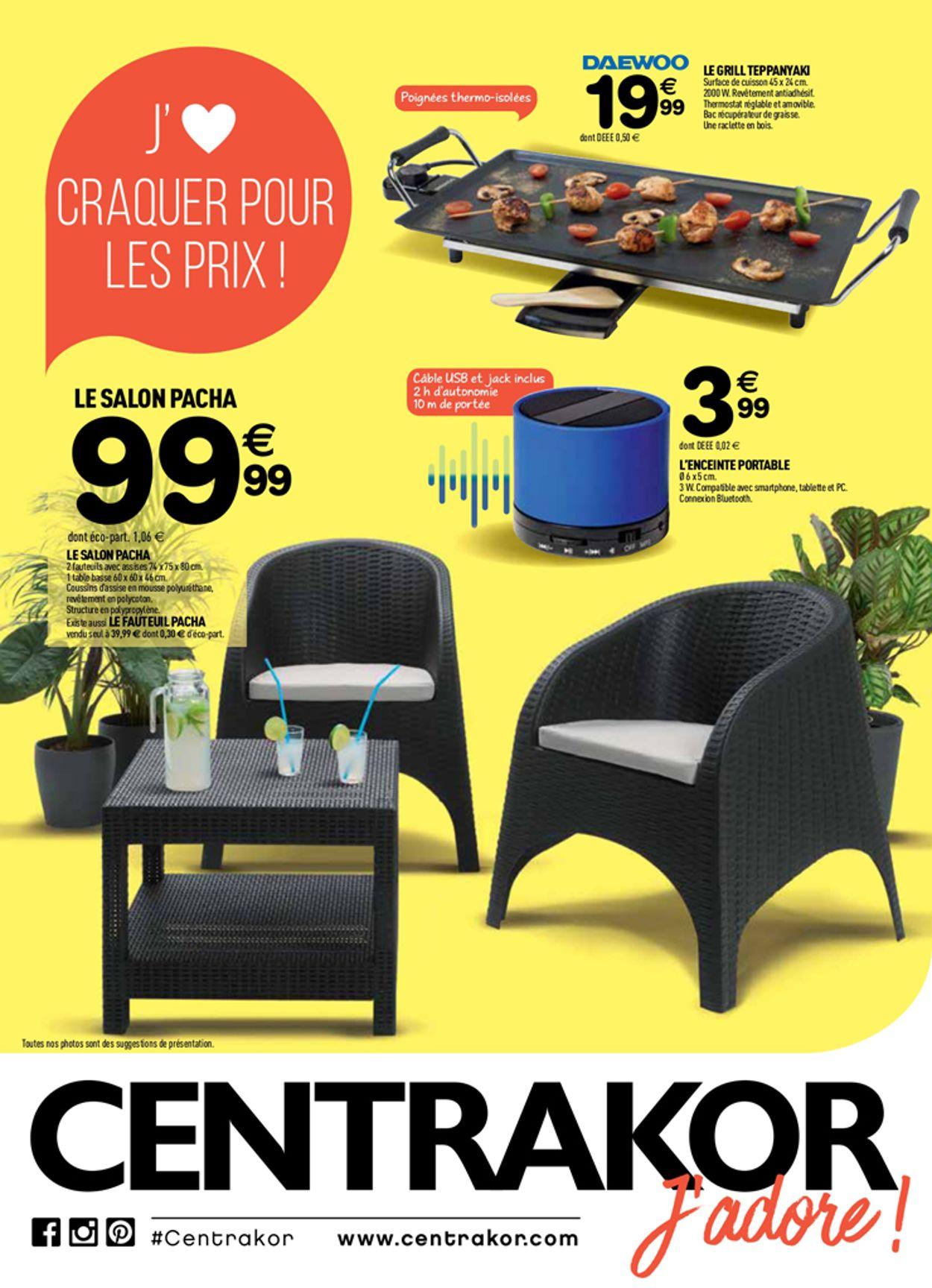 Centrakor Catalogue Actuel 01.07 - 14.07.2019 - Catalogue-24 intérieur Salon De Jardin Centrakor 2019