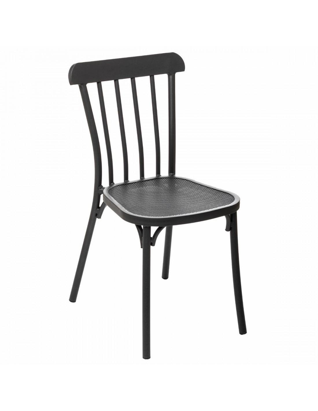 Chaise De Jardin Ellipsa En Aluminium Graphite - Hespéride dedans Chaise Hesperide