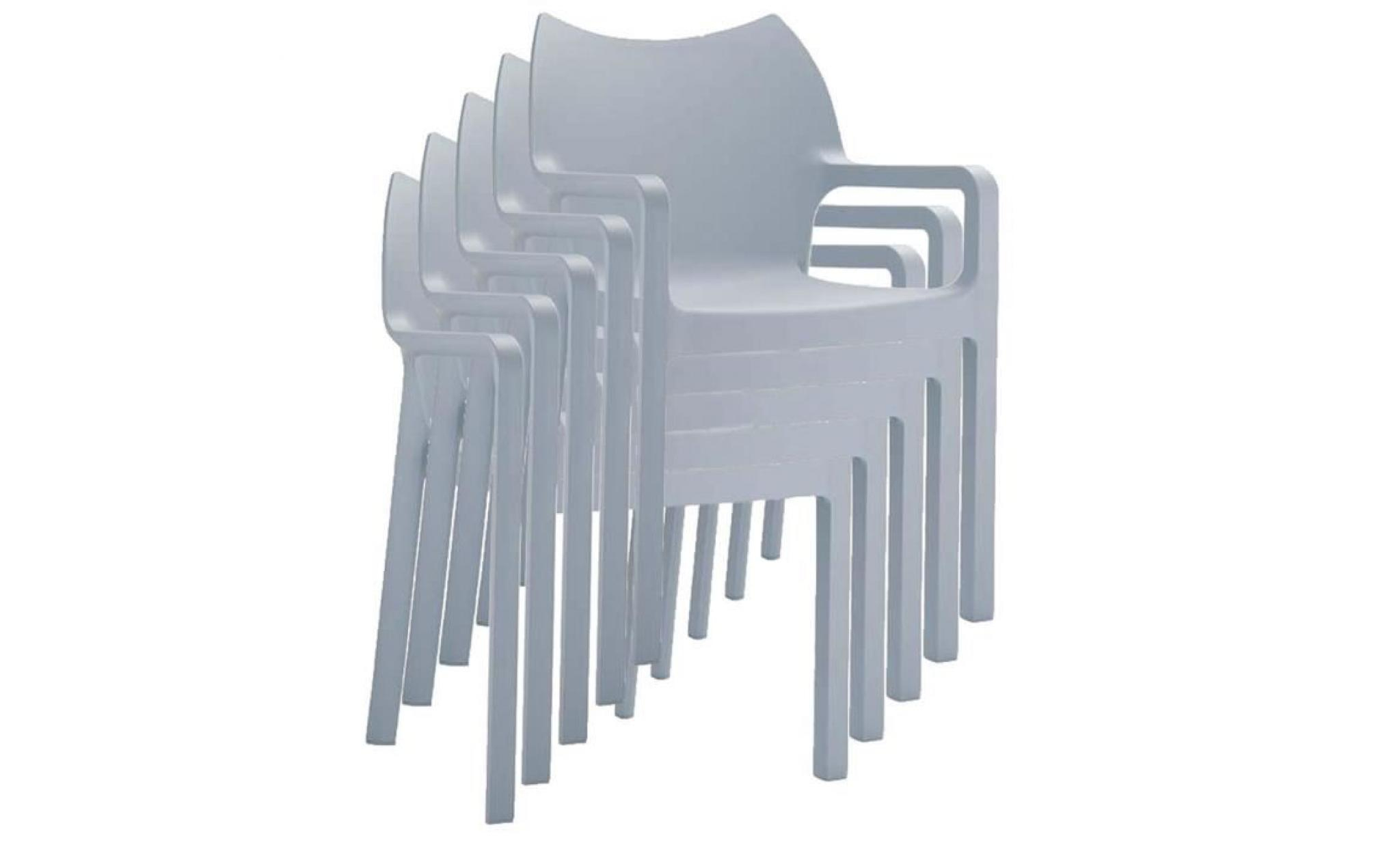 Chaise De Jardin Empilable En Plastique Gris Cl... avec Chaise De Jardin Pas Cher En Plastique