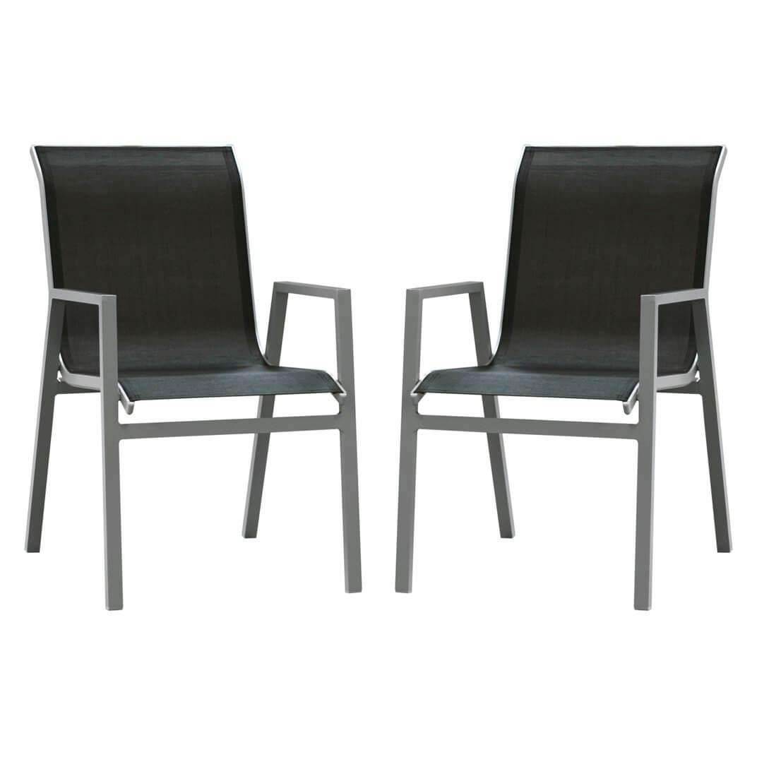 Chaise De Jardin En Aluminium Atlantique - Lot De 2 serapportantà Chaise De Jardin Aluminium